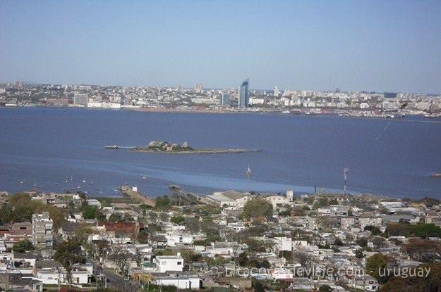 vista panorámica desde el cerro y fortaleza de montevideo