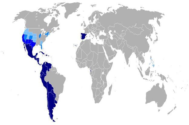 Países donde se habla Español (Fuente Wikipedia)