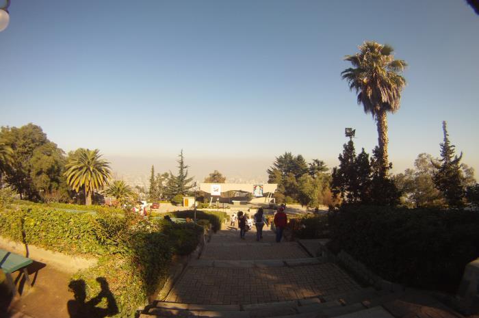 En el Santuario del cerro San Cristobal