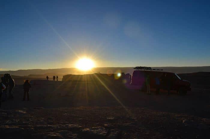Sandoboard en Atacama atardecer