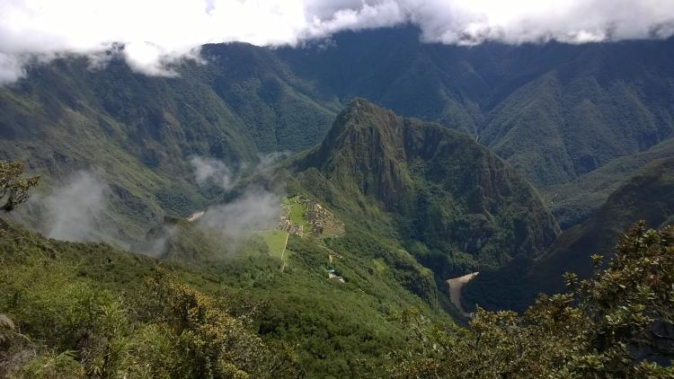 Desde la montaña Machu Picchu