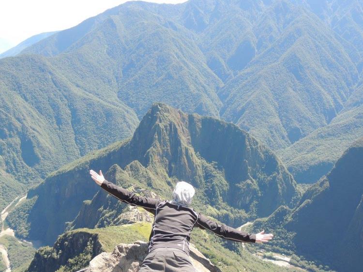 En la montaña Machu Picchu
