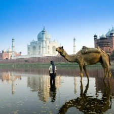 Esta imagen del Taj Mahal era la que quería obtener.
