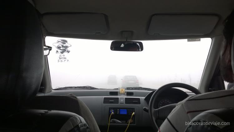 Casi sin visibilidad, así fue nuestro trayecto... daba hasta un poco de miedo