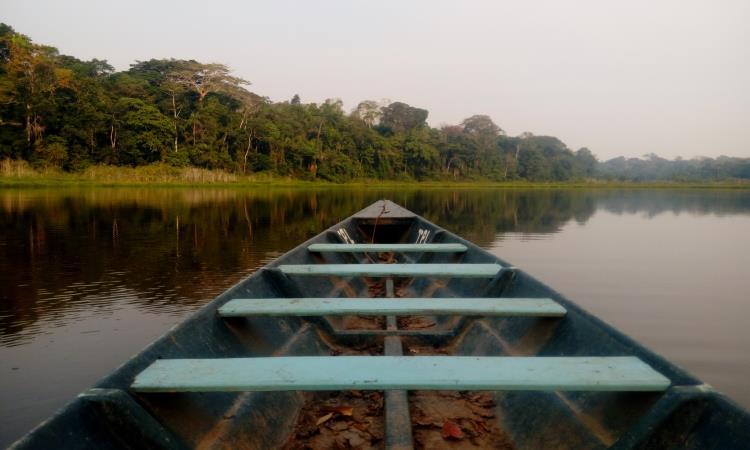 lago condenado en la reserva nacional tambopata