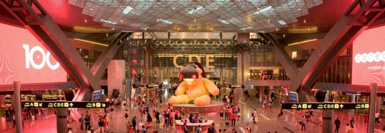 Área de espera aeropuerto de Doha