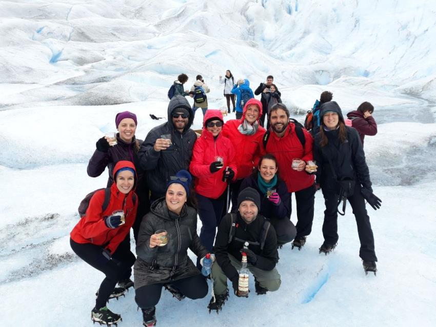 Caminando en el Perito Moreno