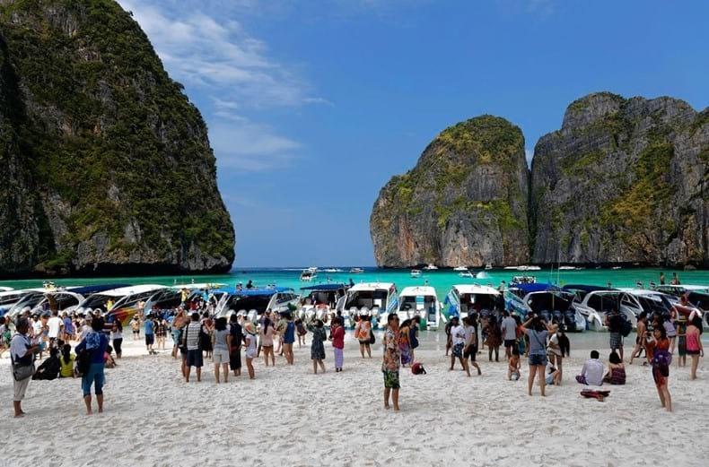 Playas de Asia llenas