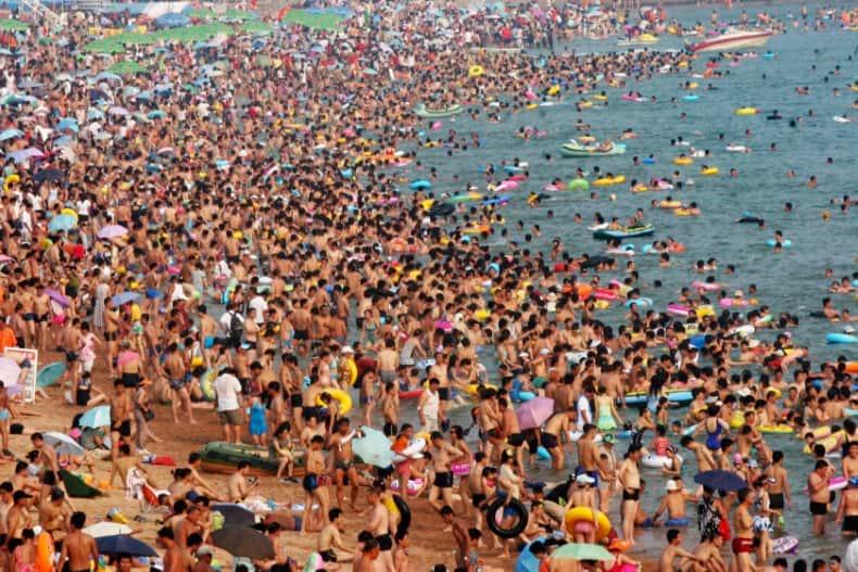 Playas saturadas
